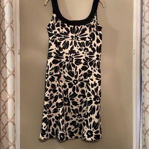 Evan Picone Cream and Black Dress